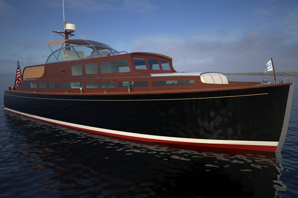 Resto-Mod Revives Classic Huckins Yacht